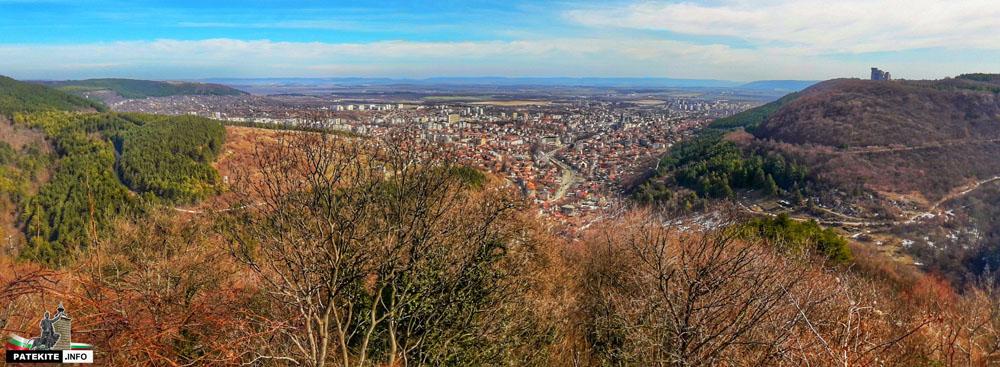Панорамна снимка към Шумен