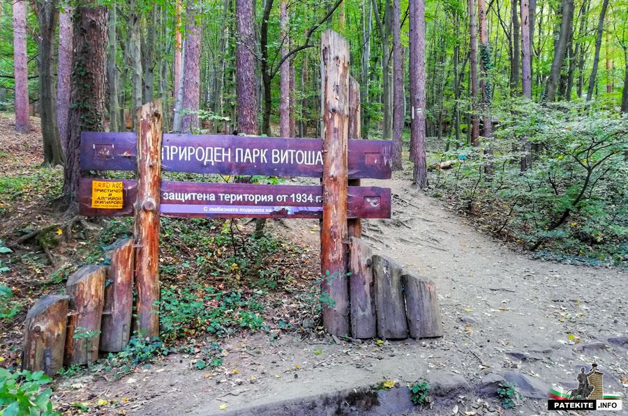 Началото на маршрута за Боянският водопад