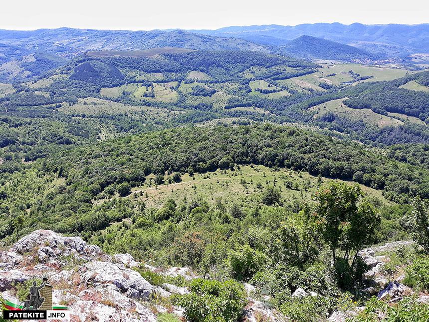 Спускане от връх Коджа Кая