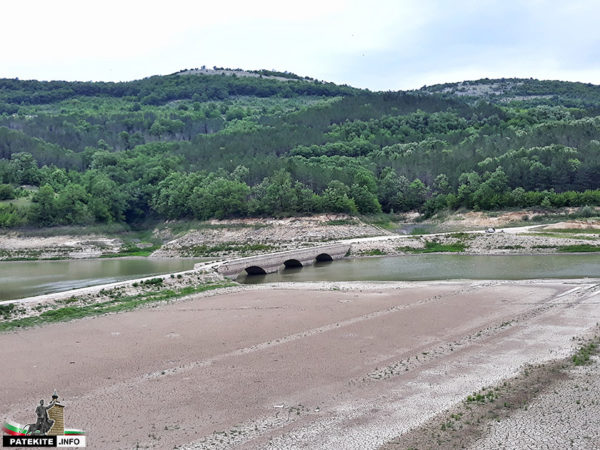 Старият мост под язовир Цонево
